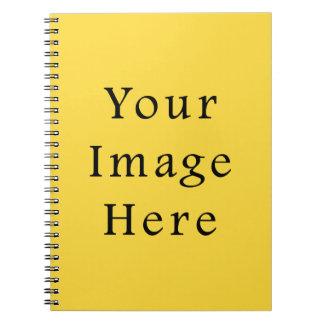 Lemon Zest Bright Yellow Color Trend Template Notebook