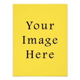 Lemon Zest Bright Yellow Color Trend Template Photo Print