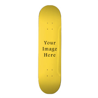 Lemon Zest Bright Yellow Color Trend Template Skateboard