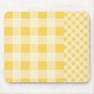 Lemon Zest Gingham pattern Mouse Pad