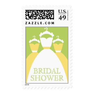 Lemon Zest Yellow Bridal Shower Invitation Stamps