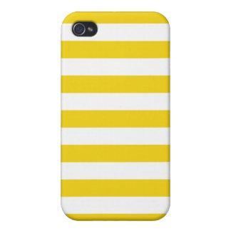 Lemon Zest Yellow Stripes Pattern iPhone 4/4S Case