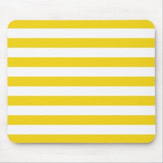 Lemon Zest Yellow Stripes Pattern Mouse Pad