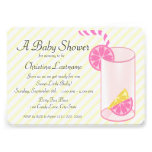 Lemonade Baby Shower Custom Announcement