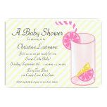 Lemonade Baby Shower Custom Announcement