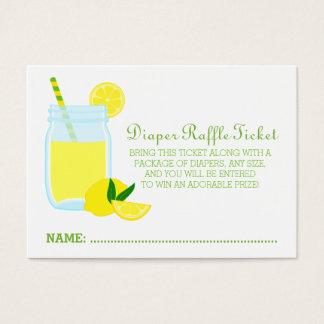 Lemonade Baby Shower Diaper Raffle Ticket