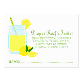Lemonade Baby Shower Diaper Raffle Ticket Pack Of Chubby Business Cards