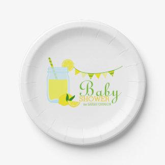 Lemonade Baby Shower 7 Inch Paper Plate