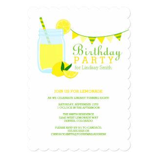 Lemonade Birthday Party 5x7 Paper Invitation Card
