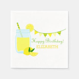 Lemonade Birthday Party Napkin