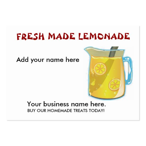 business plan for lemonade stand