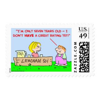 lemonade credit rating stamps