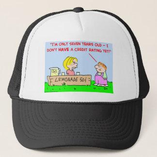 lemonade credit rating trucker hat