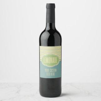 """Lemonade"" custom text bottle lables Wine Label"