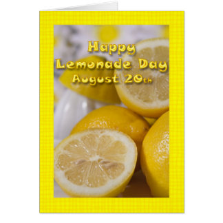 Lemonade Day Card August 20