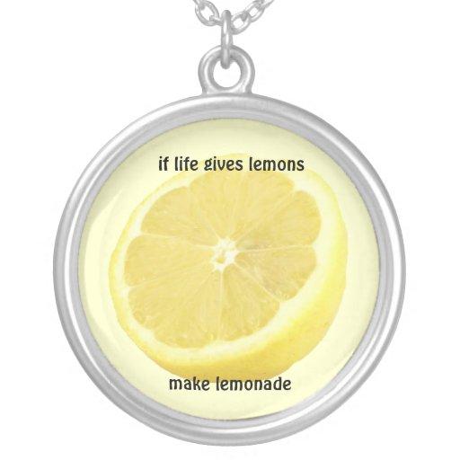 Lemonade : if life gives you lemons personalized necklace