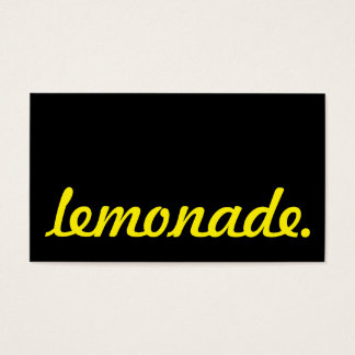 lemonade. loyalty punch card
