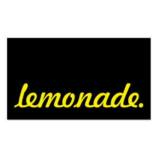 lemonade. loyalty punch card Double-Sided standard business cards (Pack of 100)