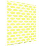 Lemonade Modern Oval at Emporiomoffa Stretched Canvas Print