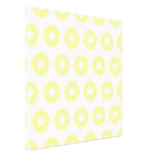 Lemonade Modern Sunbursts Canvas Prints