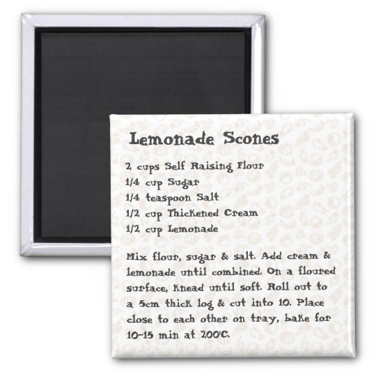 Lemonade Scones Recipe Magnet pink