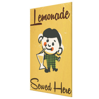 Lemonade Served here vintage Drinks commercial Canvas Print
