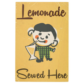Lemonade Served here vintage Drinks commercial Metal Print