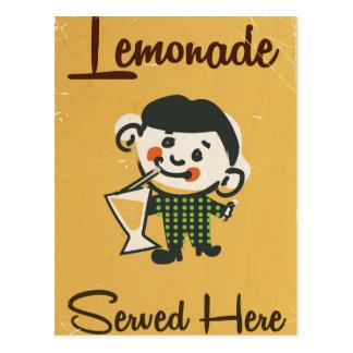 Lemonade Served here vintage Drinks commercial Postcard