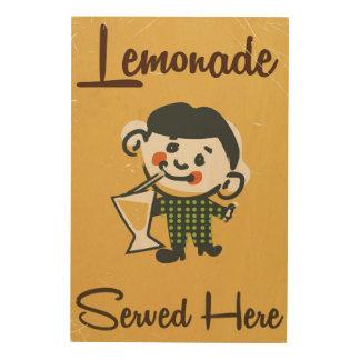 Lemonade Served here vintage Drinks commercial Wood Wall Art