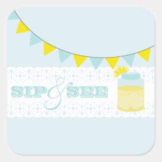 Lemonade Sip And See Blue Sticker