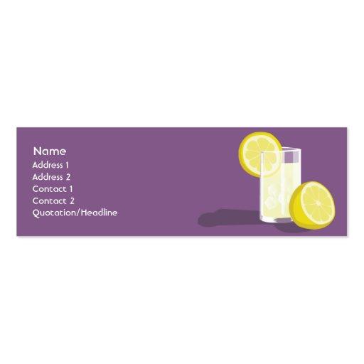 Lemonade Skinny Mini Business Card