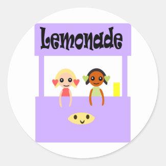 Lemonade Stand Classic Round Sticker