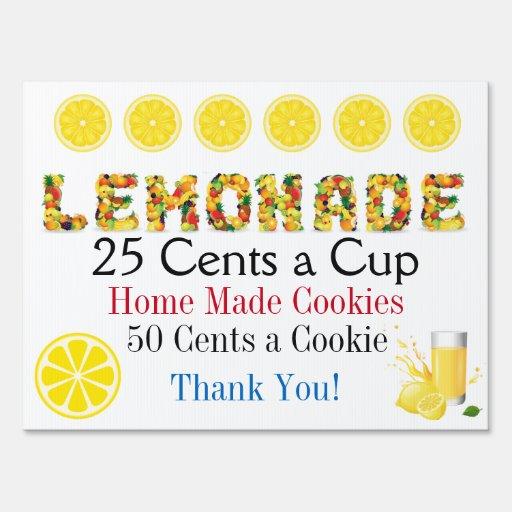 Lemonade Stand Lawn Sign Srf Zazzle