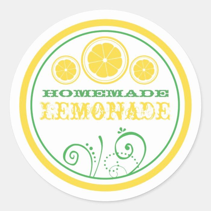Lemonade Stand Logo Stickers