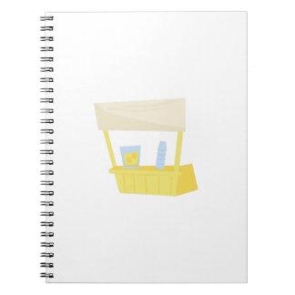 Lemonade Stand Spiral Note Book