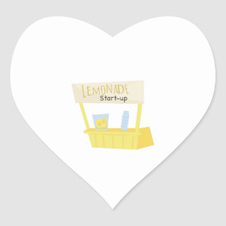 Lemonade Start Up Heart Sticker