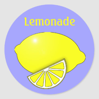 Lemonade Stickers with Lemon and Wedge