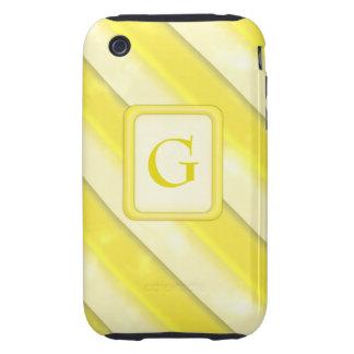 Lemonade Stripes iPhone 3 Tough Case