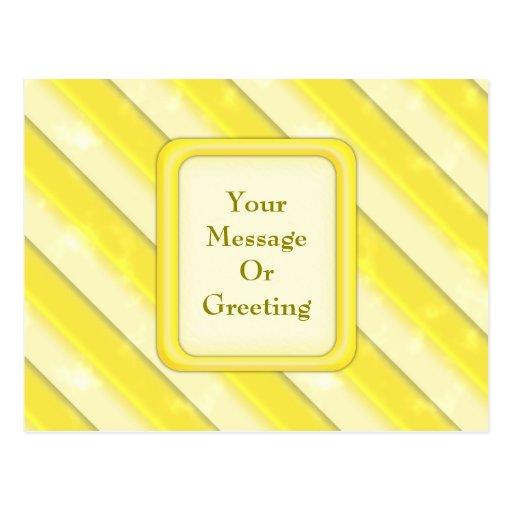 Lemonade Stripes Postcard