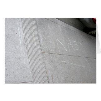 'Lemonaed' Lemonade Sidewalk Chalk Card