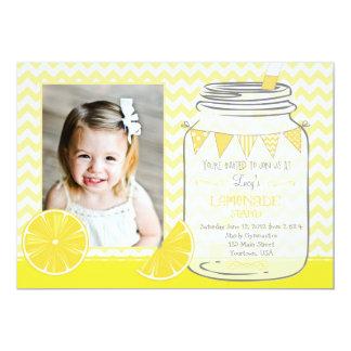 Lemonaid Stand Chevron Pendants Party Birthday Card