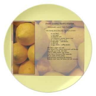 LemonCake/Pudding Recipe Plate