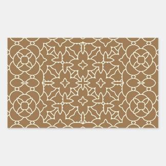 Lemongrass geometric pattern rectangular sticker
