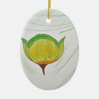 lemongrass poppy.jpg ceramic ornament
