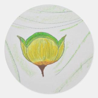 lemongrass poppy.jpg classic round sticker