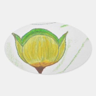 lemongrass poppy.jpg oval sticker