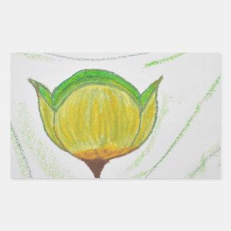 lemongrass poppy.jpg rectangular sticker