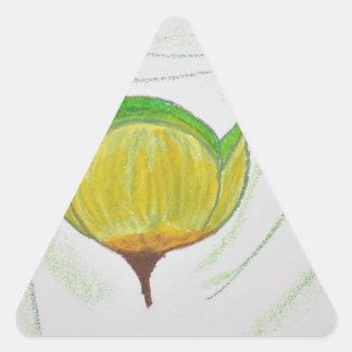 lemongrass poppy.jpg triangle sticker