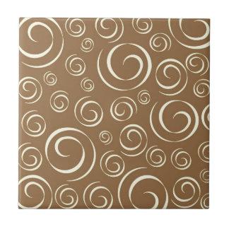 Lemongrass swirl pattern Pt81 Ceramic Tile