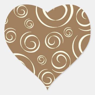 Lemongrass swirl pattern Pt81 Heart Sticker
